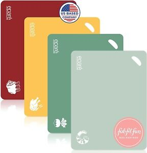 Epare Cutting Board Set Of 4 color coded bpa free $14.99