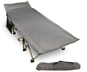Folding Camping Cots 500lbs Double Layer Oxford Strong Heavy Duty *Damage* NEW