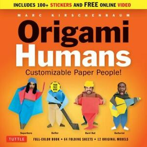 Origami Humans Kit: Customizable Paper People Full color book 64 sheets of Or