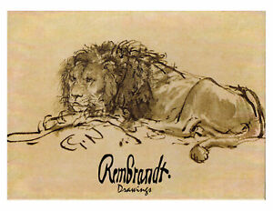 Rembrandt Drawings Sketches Boxed Note Card Set of 16 with Envelopes $21.95