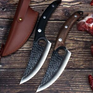 Serbian Forged Butcher High Clad Steel Boning kitchen chef Knife Cleaver Hunting $32.99
