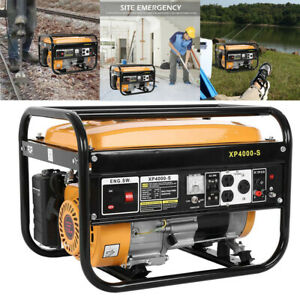 4000 Watt Gas Powered Portable Generator Engine For Jobsite RV Camping Standby