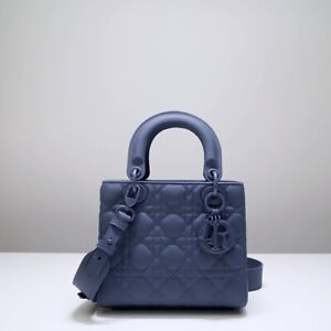 christian dior Lady Bag ABCDior Bag Denim Blue Ultramatte Cannage Calfskin