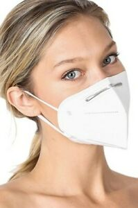 100 ct KN95 5Ply Disposable Face Mask Individually Wrapped w Metal Nose Clip