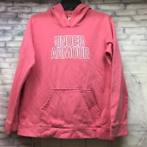 Under Armour Hoodie Girls Size YXL Loose Pink $12.98