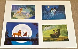 4 Disney Lithographs: Bambi Lion King Jungle Book Cinderella by McGraw Group $21.00