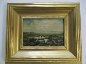 ANTIQUE OIL PAINTING LANDSCAPE SMALL GEM MASTERFUL LANDSCAPE IMPRESSIONIST OLD $1040.00