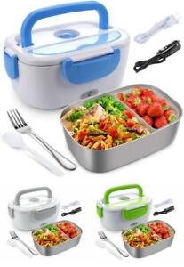 PORTABLE ELECTRIC LUNCH BOX Heating Food Bento Warmer Car Office Stainless Stee