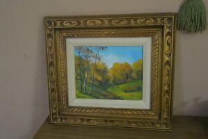 Vintage Painting on Board Signed Ryes 10quot; x 12quot; 16quot; x 18quot; Framed Landscape $55.00