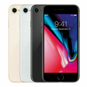 Apple iPhone 8 64GB GSM Factory Unlocked GRAY amp; SILVER GOOD CONDITION