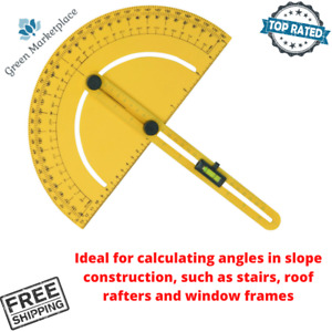 Pittsburgh Protractor Angle Finder Calculating Angles For Slope Construction New $24.99