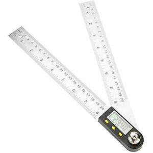 Angle Finder Stainless Steel Ruler Digital Goniometer For Research Woodworker $34.59