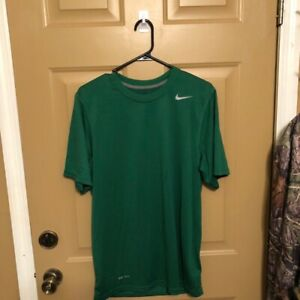 Nike Dry Fit Shirt Mens Size Small S Adult Green Short Sleeve Top Swoosh $14.00