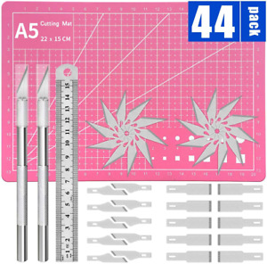 Kit 44 Exacto Knife Set Blades Refill Ruler Xacto For Craft Cutting And Crafting $10.56