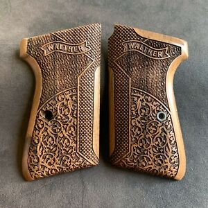 Walther PPK S Turkish Walnut Wood Grips Set. Handmade. Fits Samp;W PPK S. Authentic