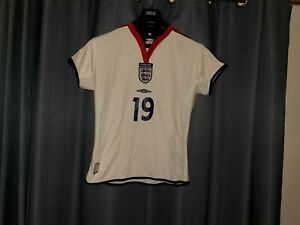ENGLAND Umbro Football Shirt Women Player Issue Ladies Size 14 Top 2003 2004 GBP 19.95