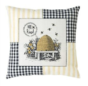 Melrose Decorative Bee Pillow Polyester Set of 2 18