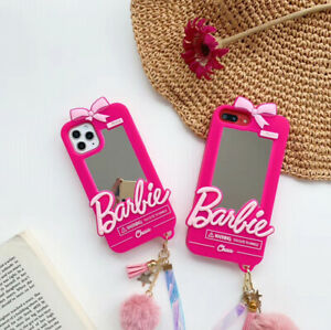 3D Barbie Bow knot Mirror Soft Phone Case Cover for iPhone 12 11 Pro Max XR 7 8