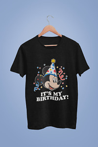 Disney Mickey Mouse Its My Birthday Unisex T Shirt $15.35
