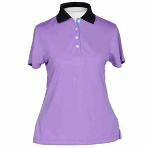 Page amp; Tuttle Multicolored Trim Womens Golf Top Casual Purple