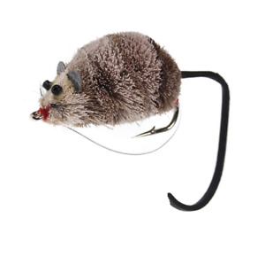 Deer Hair Mouse Fly Topwater Fishing Lures Poppers Trout Bass Pike Fly Floating