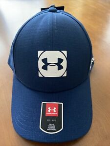 UNDER ARMOUR GOLF HAT COOLSWITCH ARMOURVENT CLASSIT FIT Size M L Blue UPF 30 $25.00