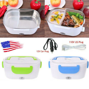 Car Electric Lunch Box Containers Heating Food Bento Warmer Portable w Plug US