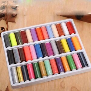 39PCS Set Assorted Colorful Polyester Sewing Thread Spools $6.78
