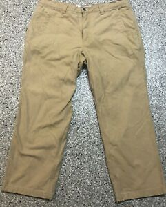 Mountain Khakis Men's Relaxed Fit Canvas Plaid Lined Brush Hunting Pants 40X30