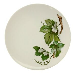4 Vintage Art Pottery 6.25quot; Bread Plates Grapevine with Leaves $14.99
