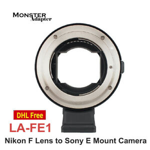 Monster Adapter LA FE1 Auto Focus Lens Adapter for Nikon F Mount Lens to Sony E $289.00