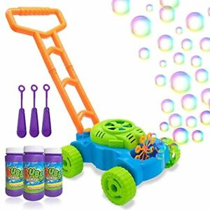 Toddlers Bubble Blower Mower Kids Machine Lawn Games Summer Family Fun Toy Play $43.20
