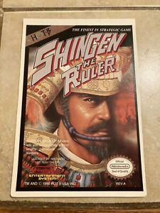 Shingen the Ruler Nes 1990 Vid Pro Card Not The Video Game $15.99