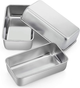 Loaf Pan Bread Baking Pans Set of 3 PP CHEF 9 inch Stainless Steel Bakeware
