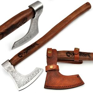 Ancient Traditions Medieval Viking Bearded Battle Axe Engraved Dragon Handle A $69.99