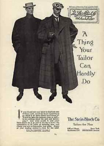 Stein Bloch Co. Tailors for Men Fifth Ave NY 1908 Gay Interest Ad $14.99