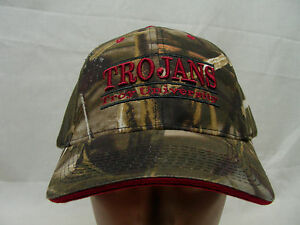 TROY TROJANS NCAA FBS SBC CAMOUFLAGE THE GAME ADJUSTABLE BALL CAP HAT