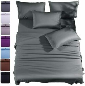 1800 Count 6 Piece Bed Sheet Set Deep Pocket Sheets Softer Than Egyptian Cotton