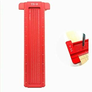 Woodworking Scriber Ruler TS 8 Hole Scribing T Ruler Portable Crossed Out Too... $40.29