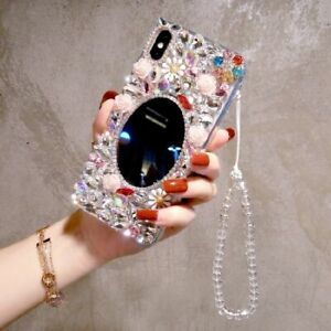 Bling Rhinestone Mirror Soft Case cover For iphone X XR Xs Max 6 7 8 11 Pro Max