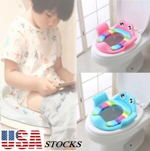 Multifunctional Portable Baby Cushion Toilet Potty Seat with Armrest Train Stool $16.95