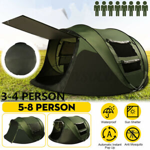 3 4Person Tent Family Outdoor Portable Waterproof Camping Shelter Cabin