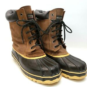 Mens Outdoor Insulate Steel Shanks Sports Boots Hunting Size 11