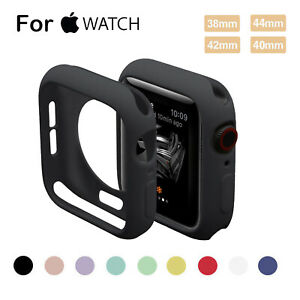 For Apple Watch Series 6 5 4 3 2 1 Case iWatch 38 42 40 44mm Soft Silicone Cover