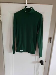 Under Armor Cold Gear Compression Shirt Size Medium Green Fitted $16.99