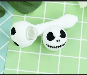 Portable Smoking Pipe Skull Type Glass bowl Hand Pipes Tobacco Herb Halloween🌿 $10.99