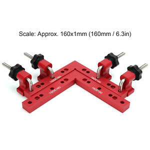 2 Positioning Squares 4 Right Angle Corner Clamp Aluminum 90 Degree ruler $68.77