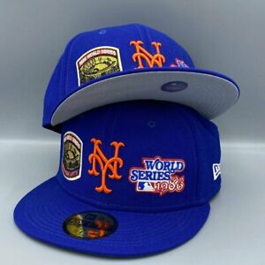 2x World Champs Coll. NY Mets New Era 59FIFTY Blue Fitted Hat $49.99
