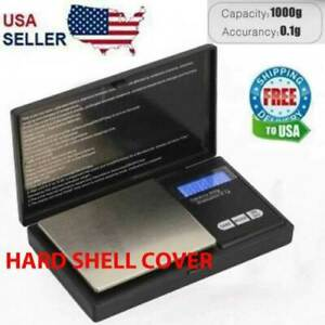 Digital Scale 1000g x 0.1g Jewelry Coin Silver Gold Food Pocket W Batteries