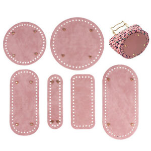 Leather DIY Bags Bottom Mat Pad Insert Base Replacement Purse Making Pink Y1